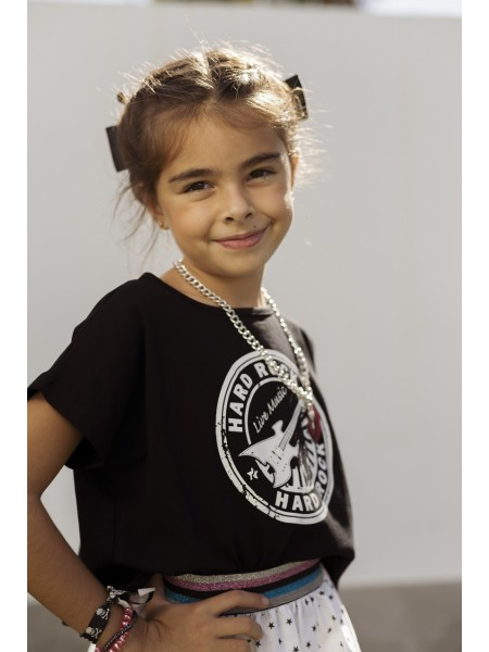 GIRLT-SHIRT HARD ROCK MON PETIT BOMBON