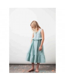 GIRL STRIPPED LONG DRESS TOCOTO VINTAGE