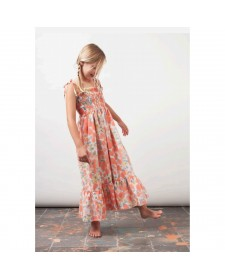 GIRL FLOWER PRINTED MAXI DRESS TOCOTO VINTAGE
