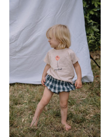 BABY GIRL ROSE COQUELICOT T-SHIRT BUHO