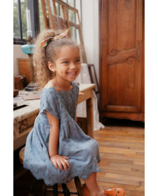 GIRL BLUE DRESS LEILANI LOUISE MISHA