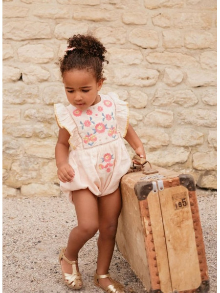 BABY GIRL BLUSH ROMPERS LOUISE MISHA