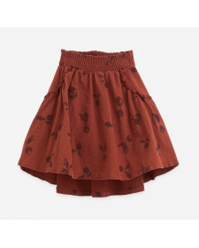 Woven cotton skirt Play up