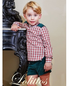 BOY 2 PIECES GREEN SHORT & SHIRT LOLITTOS