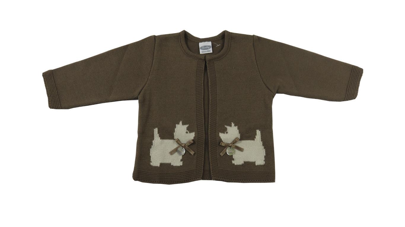 baby girls brown cardigan perrito