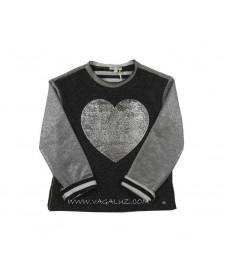 GIRLS SWEATSHIRT WITH HART