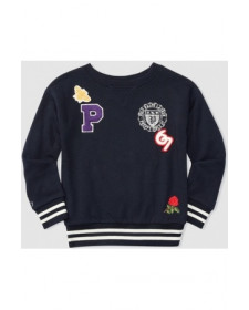 BOY NAVY SWEATSHIRT POLO RALPH LAUREN