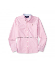 GIRLS NEW ROSE COTTON OXFORD SHIRT