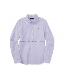 GIRLS PURPLE COTTON OXFORD SHIRT