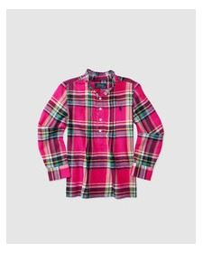 GIRLS PINK CHECK SHIRT