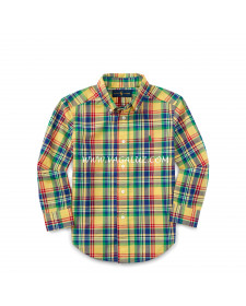 BOY YELLOW CHECKED SHIRT RALPH LAUREN