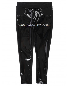 GIRL'S LEGGINGS WITH A GLOSSY EFFECT
