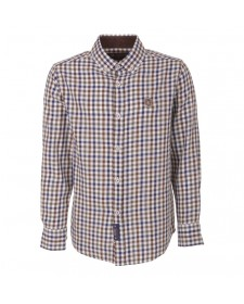 BOYS MID-MOSS GREEN CHECKED SHIRT