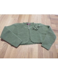 GIRLS GREEN BOLERO