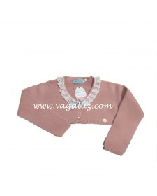 GIRL PINK KNITTED BOLERO