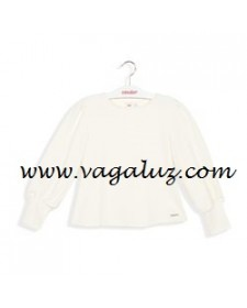 GIRLS SHIRT FANTASY WHITE COTTON