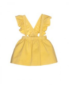 GIRLS YELLOW SKIRT WITH SUSPENDERS