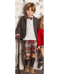 BOYS SHIRT AND SHORT RED ESCOCES