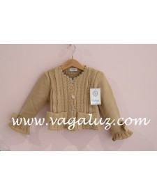 GIRLS CAMEL CARDIGAN