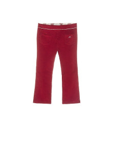 GIRLS RED MICROCORDUROY TROUSERS