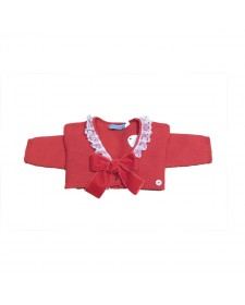 GIRLS RED KNITTED BOLERO