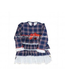 GIRLS BLUE CHECK DRESS