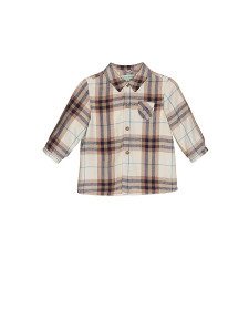 BABY BOYS BEIGE CHECK SHIRT