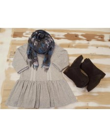 GIRL GREY DRESS