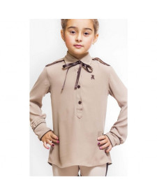 GIRLS LIGHT BROWN BLOUSE.