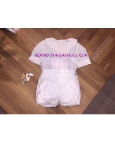OUTFIT BOY 2 PIECES CREAM SET