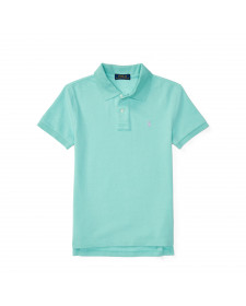 BOYS BAYSIDE GREEN CUSTOM FIT WEATHERED MESH POLO