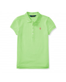 GIRLS HAMPTON LIME SHORT SLEEVE POLO SHIRT