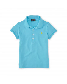 GIRLS SHORT SLEEVE MESH POLO
