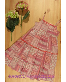 DRESS GIRL WHIT RED PRINT