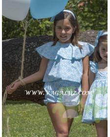 GIRLS JUMPSUITS BLUE PRINT