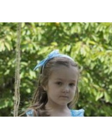 GIRLS HEADBAND BLUE PRINT