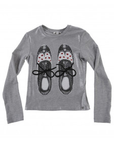 GIRLS T-SHIRT WITH SHOES PRINT MISS GRANT