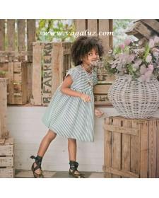 GIRL BLACK AND WHITE STRIPES DRESS