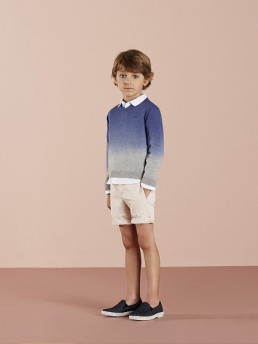 BOYS BEIGE BERMUDA SHORT