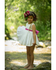 GIRLS WHITE DRESS TUCANA