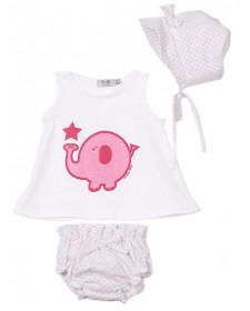 SET FOR BABY GIRL ELEPHANT