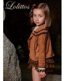 GIRL BROWN INDIA JACKET