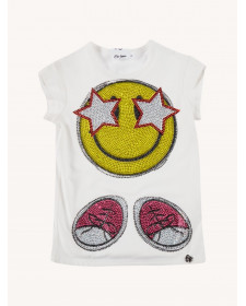 Girl Diamant Smiley T-Shirt So twee by Miss grant