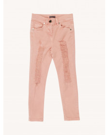 GIRLS TROUSERS WITH FASHIONABLE RIPS