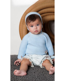 BABY BOY BLUE JERSEY AND BLOOMERS