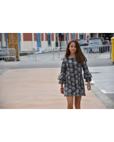 GIRL GREY DRESS BAROCCO