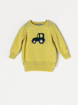 BOYS YELLOW SWEATER CAR