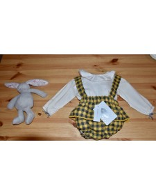 BABY GIRL MOUSTARD BLOUSE & KNICKERS ROCHY