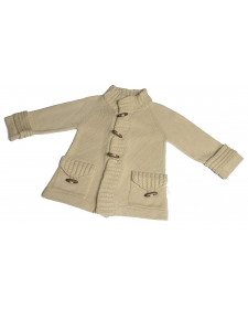BOYS BEIGE WOOL COAT RAHIGO