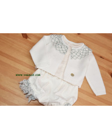 BABY GIRL WHITE CARDIGAN
